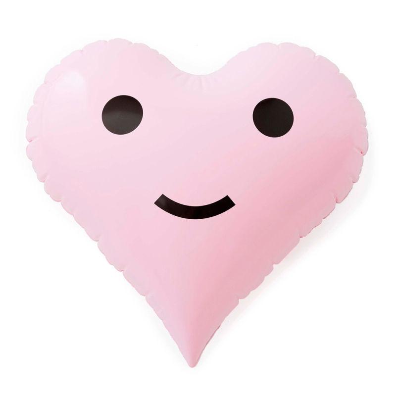 Pink Heart Emoji Cushion Float We Float Bali
